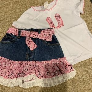 Other - Brand New Girls 4T Cowboy outfit